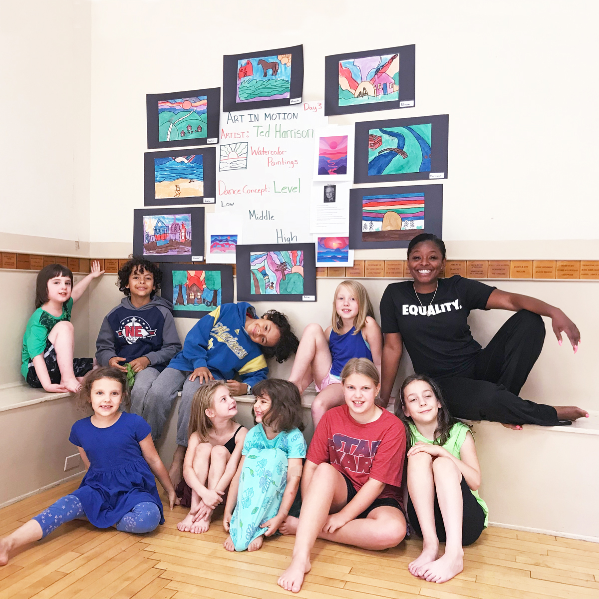 Art in Motion Camp - In Studio